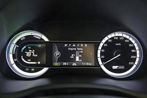 Mittariston vasemman puolen viisarinäyttö kertoo energiankulutuksen ajonaikaisesta käytöstä. Keskiosan perusversiota suurempi 4,2-tuumainen näyttö seuraa Supervision-mittariston mukana EX-varustetasosta alkaen.
