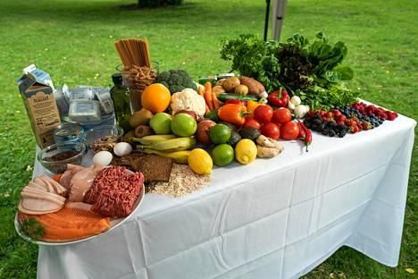 Tässä on esimerkki terveellisestä viikon ruokavaliosta.