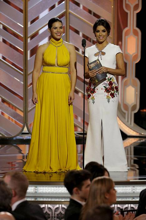 America Ferrera ja Eva Longoria toimivat Golden Globe -gaalassa esittelijöinä.