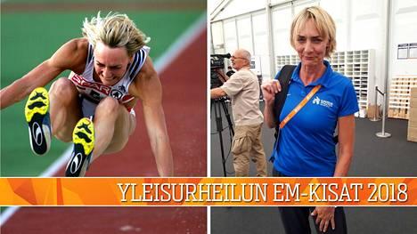 Kaksikertainen olympiavoittaja Heike Dreschler työskentelee toimitsijana yleisurheilun EM-kisoissa.