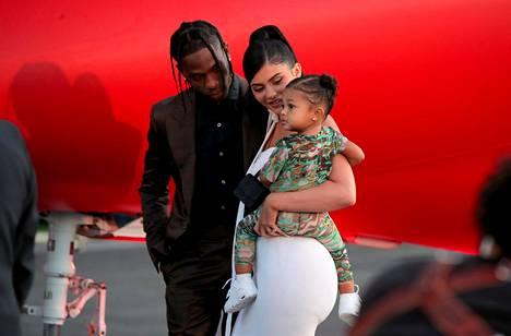 Travis Scottilla ja Kylie Jennerilla on yhteinen Stormi-tytär.