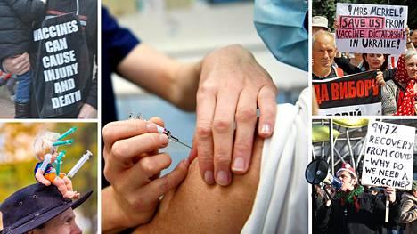 Rokottamista vastaan on osoitettu tänä vuonna mieltä muun muassa Yhdysvalloissa, Saksassa, Ukrainassa sekä Englannissa.