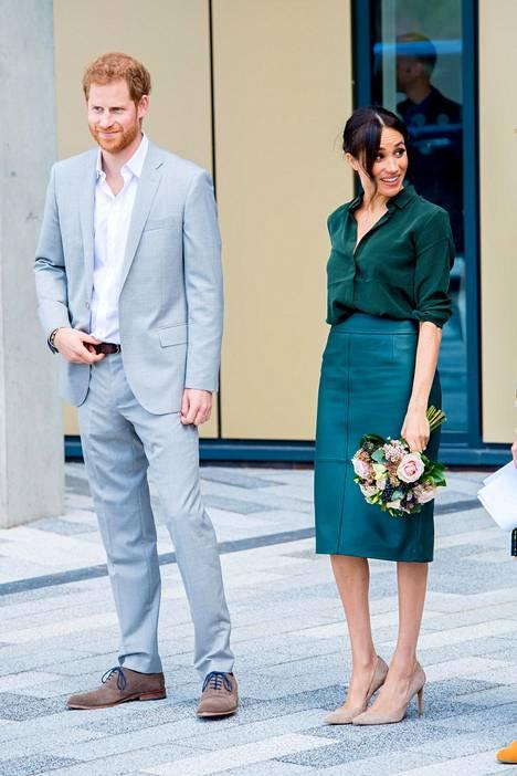 Prinssi Harry ja herttuatar Meghan Sussexissa.