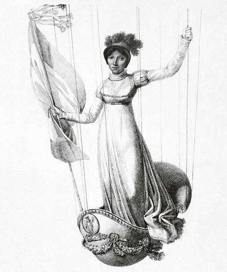 Sophie Blanchard (s. 1778) oli Napoleonin pääaeronautti, joka suunnitteli Britannian valloituksen kuumailmapallohyökkäykset.