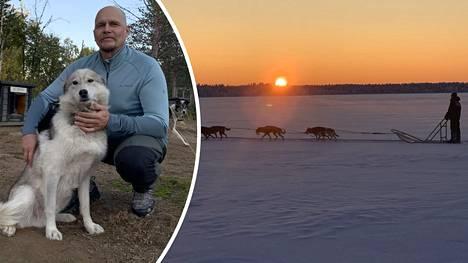 Husky-yrittäjä Pasi Ikosen mukaan tämä talvi on jo menetetty. Huskyjen ruokakulut juoksevat yhä.