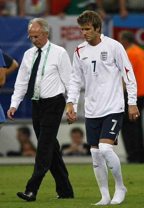 Sven-Göran Eriksson ja David Beckham MM-kisoissa 2006.