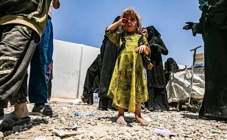 Lapsi Al-Holin leirillä 22. heinäkuuta.