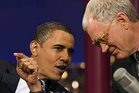 - Olin musta myös ennen vaaleja, tokaisi Barack Obama David Lettermanille.
