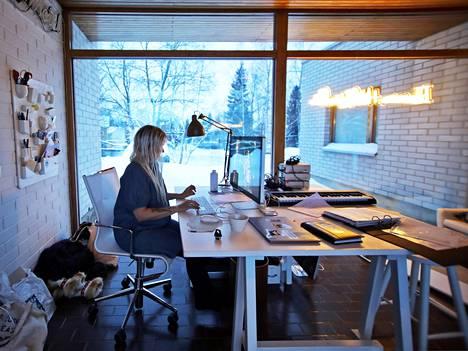 Ivana Helsinki Housessa sijaitsevat myymälän lisäksi toimistotilat.