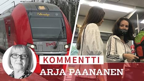 Pietarista Viipuriin matkanneessa paikallisjunassa näkyi koko venäläinen maskinvälttelyn kirjo torstaina iltapäivällä.