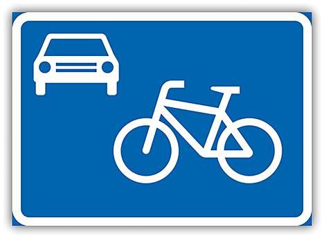 E27 Pyöräkatu – Alueella on noudatettava pyöräkadulla voimassa olevia liikennesääntöjä.