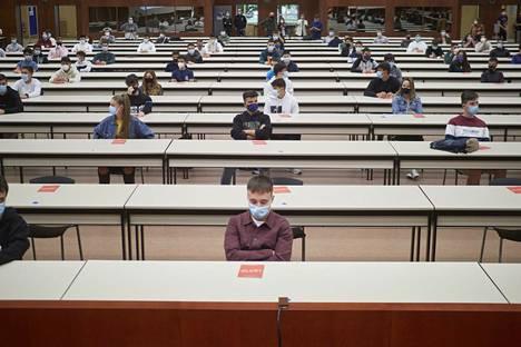 Yliopiston opiskelijat aloittelivat lukuvuotta Pamplonassa Espanjassa syyskuun alussa.