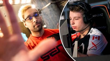 Hakkeri lähetti Bradley Fodorin (oikealla) Valorant-tunnukselta rasistisia viestejä Shahzeb Khanille, joka on parhaimpiin kuuluvan Sentinels-joukkueen pelaaja.