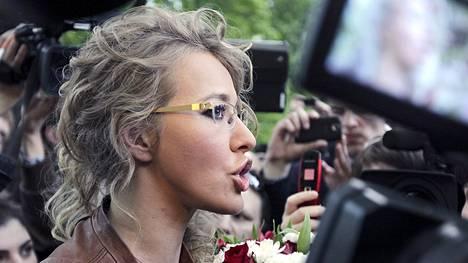 Tv-persoona ja journalisti Ksenia Sobtshak.