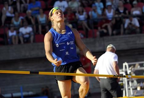 Matti Mononen tunnettiin värikkäänä urheilijapersoonana. Kuva Kalevan Kisoista Tampereelta 2008.