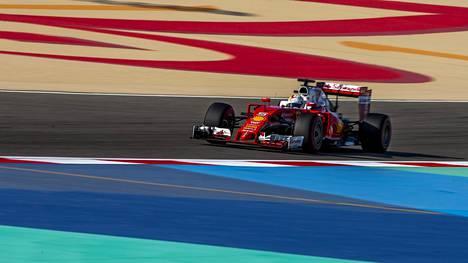 Sebastian Vettelin kisa päättyi lämmittelykierrokselle.