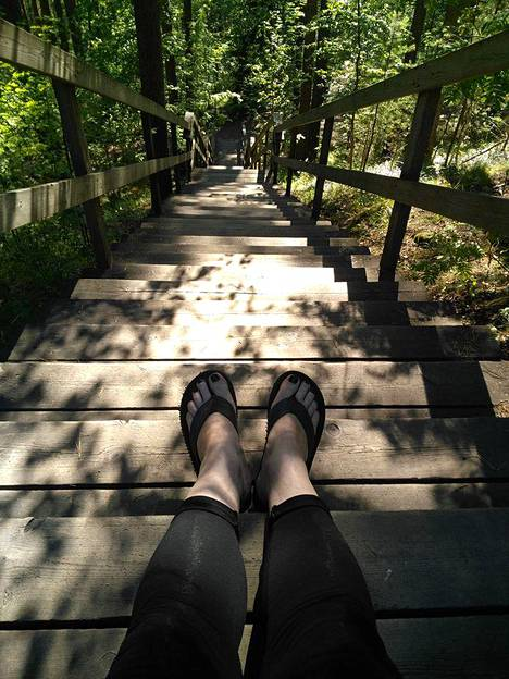 Pyynikin portaat Tampereella.