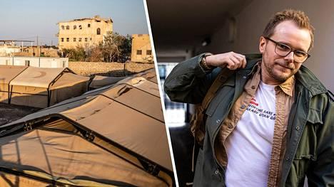 Kuva oikealla: Anestesialääkäri Kariantti Kallio lähdössä matkaan kohti Jemeniä.