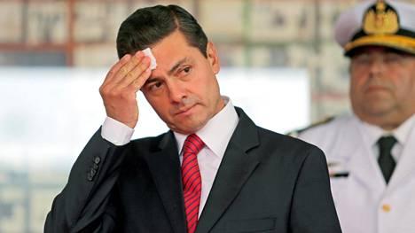 Presidentti Enrique Pena Nieto arkistokuvassa.