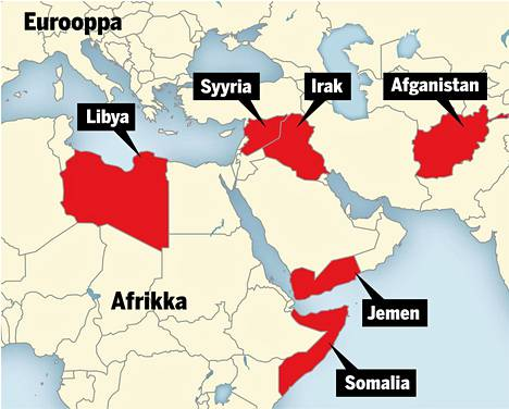 Lähi-idän aseelliset konfliktit, joissa Yhdysvallat on osallisena.