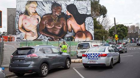 LushSuxin taidetta Melbournen lähiössä.