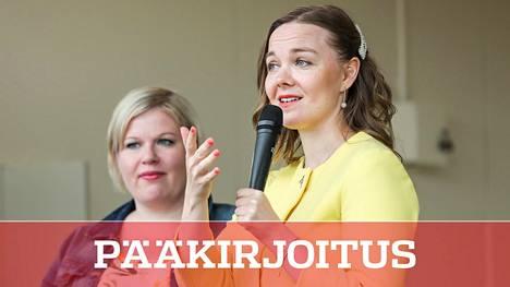 Annika Saarikko ja Katri Kulmuni kisaavat tosissaan keskustan puheenjohtajuudesta.