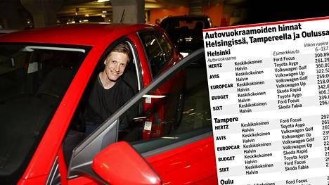 Otto Becker Espoosta käyttää kerran kuussa vuokra-autoa. Nyt hän vuokrasi auton viikonlopuksi Helsinki-Vantaan lentokentältä.