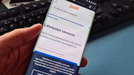 Huijaussivusto matkii evästeilmoitusta myöten Postin verkkosivuja. Myös käyttäjän puhelinnumero yritetään urkkia.