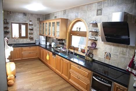 Talon keittiöstäkin löytyy puuta.