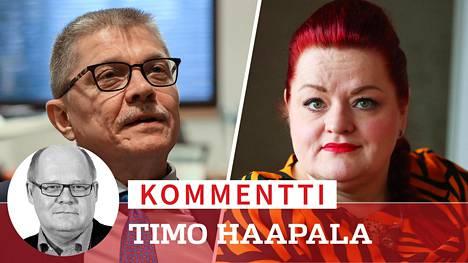 Kuntatyönantajien työmarkkinajohtaja Markku Jalonen ja terveydenhoitoalan Tehyn puheenjohtaja Millariikka Rytkönen ovat eri linjalla ylimääräisistä koronakorvauksista.