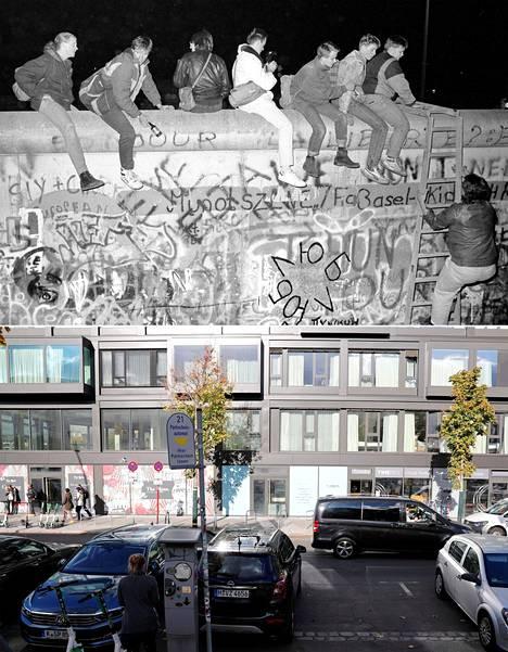 Zimmerstrassella lähellä Checkpoint Charlien kuuluisaa rajanylityspaikkaa juhlittiin.