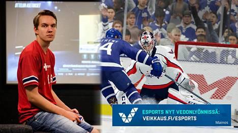 """Helsinki REDS -joukkueen Erik """"EKI"""" Tammenpää on NHL-pelin tuore maailmanmestari. Las Vegasista hän voitti 50 000 dollaria."""