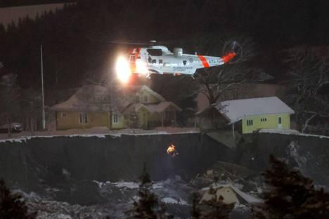 Aluetta on tutkittu helikoptereilla.