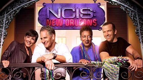 NCIS: New Orleansin näyttelijätyöryhmään kuuluvat Zoen lisäksi Scott Bakula, C. C. H. Pounder ja Lucas Black (oik.).