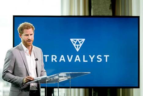 Prinssi Harry puhui Travalystin puolesta tiistaina.