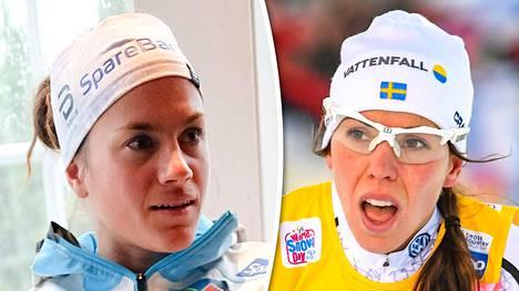 Heidi Weng lohdutti Charlotte Kallaa.
