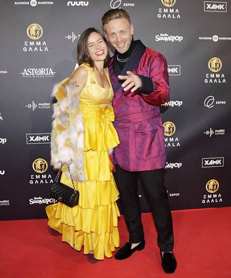 Reino ja Maria Nordin yhdessä Emma-gaalassa vuonna 2017.
