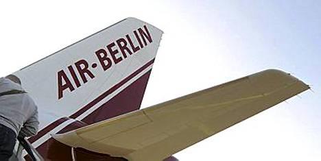 Pommi löytyi Air Berlinin Airbus-koneesta. Arkistokuva.