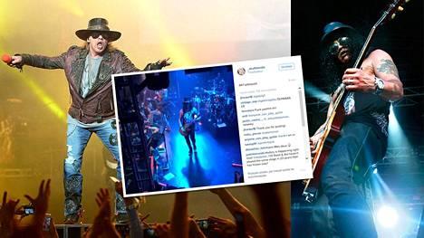Axl ja Slash nähtiin vihdoin taas samalla lavalla.
