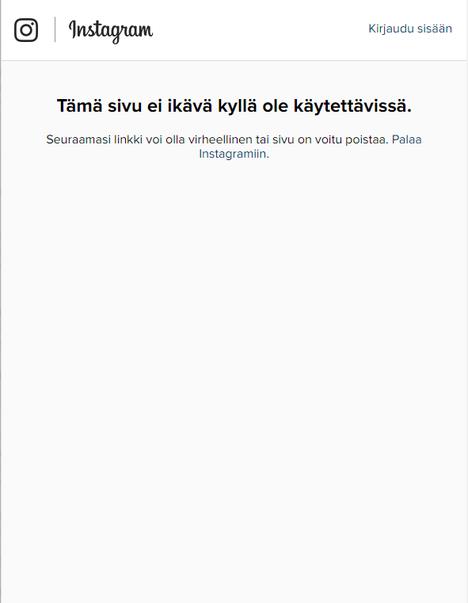 Tältä Justin Bieberin Instagram-sivu näyttää tällä hetkellä seuraajalle.