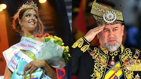 Venäläismissi Oksana Voevodina ja kruunusta luopunut Muhammad V avioutuivat marraskuussa Moskovassa.