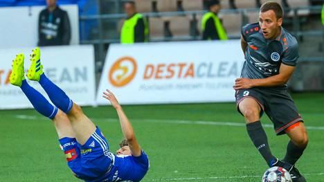 Riga FC pudotti HJK:n Euroopan liigasta.