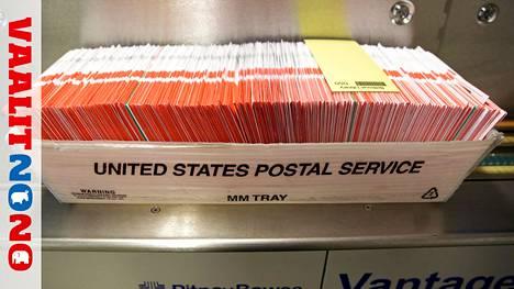 Postiääniä lajittelukeskuksessa Yhdysvaltain Washingtonin osavaltiossa.