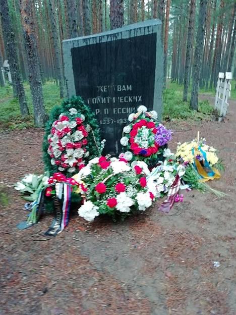 Krasnyi borin teloitus- ja joukkohautapaikka sijaitsee parikymmentä kilometriä Petroskoin eteläpuolella lähellä Äänisen rantatietä. Sandarmohin tapaan paikalla on nykyisin mäntymetsää sekä omaisten pystyttämiä puuristejä ja muistokiviä.