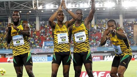 Jamaikan viestijoukkue säväytti viestijuoksun MM-kisoissa.