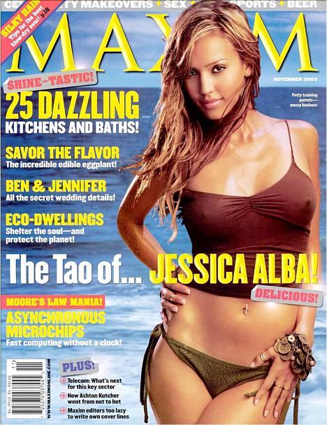 Jessica Alba poseerasi Maximin kannessa myös vuonna 2003.