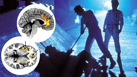 Yliopistossa tutkittiin väkivaltaisten elokuvien vaikutusta aivoissa.