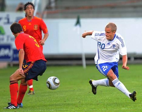 Teemu Pukki oli Suomen poikamaajoukkueiden vakiokalustoa.