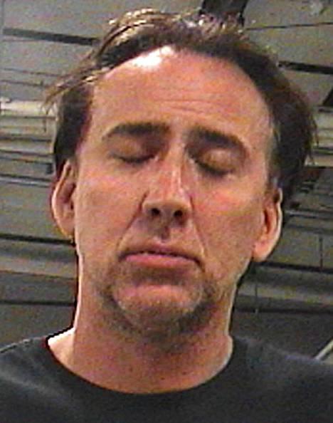 Nicolas Cage heti kuvattiin heti pidätyksen jälkeen.