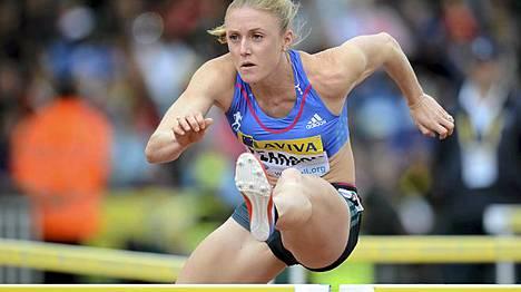 Sally Pearson hakee olympiakultaa Lontoosta.
